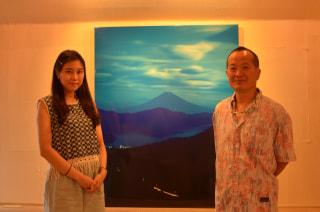 月明りで撮影した富士山 箱根写真美術館