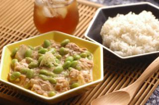 みんなの「まめヴィアージュレシピ」~ツナと枝豆の塩麻婆豆腐編~