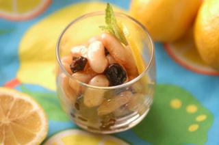 「白インゲン豆とレーズンのレモン煮」