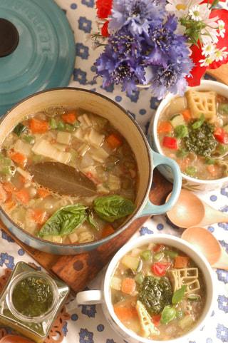 「フランスのスープ・オ・ピストゥ」