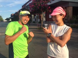 柴田聡、福島和可菜さんのサブ3.5スペシャルトレーニングを体験!