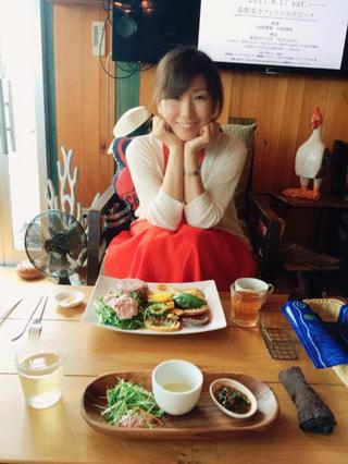 石垣島のカフェで。