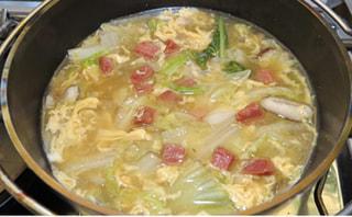 ダッチオーブンレシピ「金華ハムのスープ」