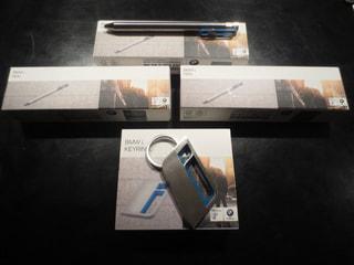 【プレゼント】 BMW iシリーズのオリジナルボールペンとBMW iシリーズのオリジナルキーリング 2015年12月19日放送分