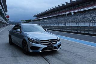 【メルセデス・ベンツCクラス】C250はサーキットで試乗。安心感の高いハンドリングを実感(レポート:番組スタッフP)