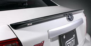 【STI】ソリッドブラックのスポイラーをWRX STI 4ドア(GV)とレガシィ(BM/BR)に追加設定